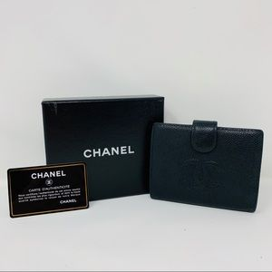 Authentic Chanel Twofold Coco Wallet